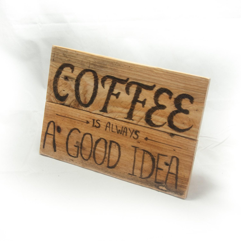 Kitchen Coffee Signs: Coffee Sign Coffee Mug Coffee Decor Funny Coffee Mug Rustic
