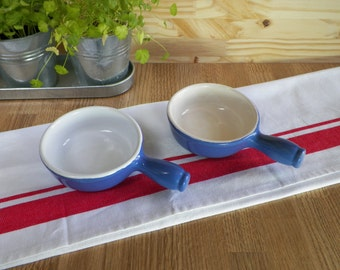 2 blue ceramic pans Emile Henry | Diametre 4.5"