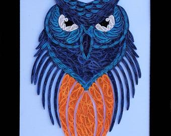 Owl, Quilling Paper Art