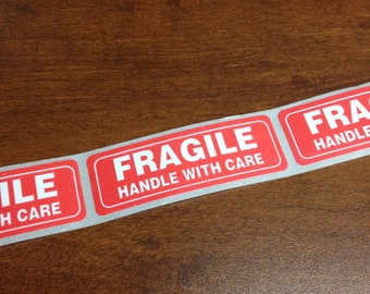 Fragile Stickers Set of 10