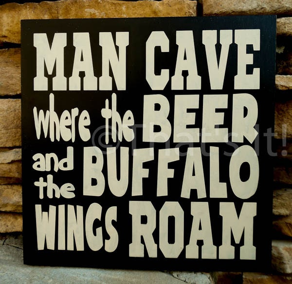 Hand Painted Man Cave Signs : Man cave sign hand painted wood