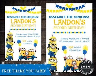 Minions Birthday Invitation