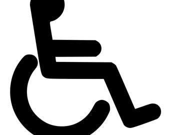 handicap symbol etsy rh etsy com handicapped logo stickers handicapped logo dwg