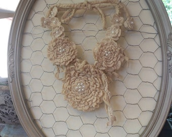 Crochet statement necklace.