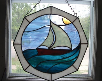 Nautical Stained Glass Panels