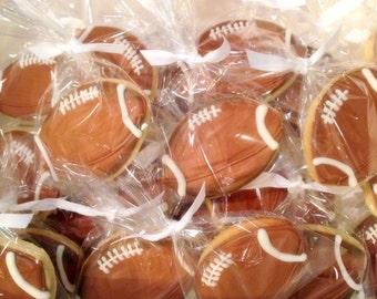 Football Decorated Sugar Cookies