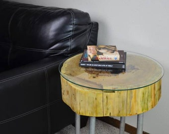 Cedar Round End Table