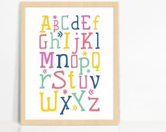 ABC Alphabet Wall Print | Nursery Decor | Children's Room Print