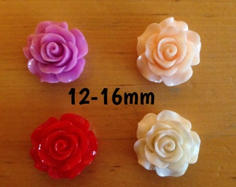 12mm-14mm-16mm rose plugs for stretched ears *red pink cream peach*