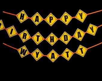 Construction Birthday Banner
