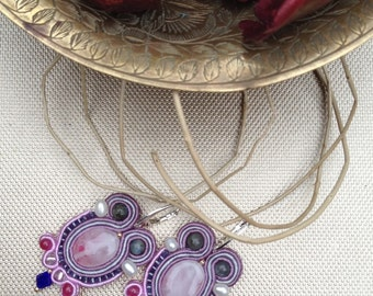 Vintage style  colorful  earrings