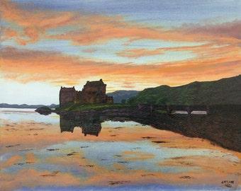 Limited Edition Fine Art Giclee Print Eilean Donan Castle