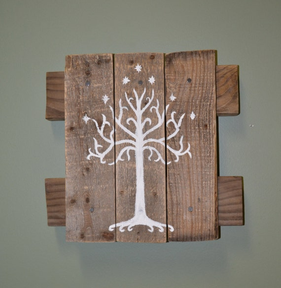 White Tree Of Gondor Wall Hanging Lord Of The By Snarlingbunny