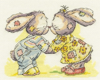 DMC BL024/51 Somebunny to Love Eskimo Kiss Cross Stitch Kit