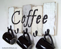 Kitchen Decor, Coffee Cup Holder, Kitchen Storage, Coffee Mug Holder, Mug Rack, Rustic Décor, Housewarming Gift, Custom orders welcome!