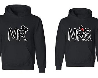 Couple Hoodie - Mr & Mrs - 2 Couple Hodies -  Matching Love Hoodie