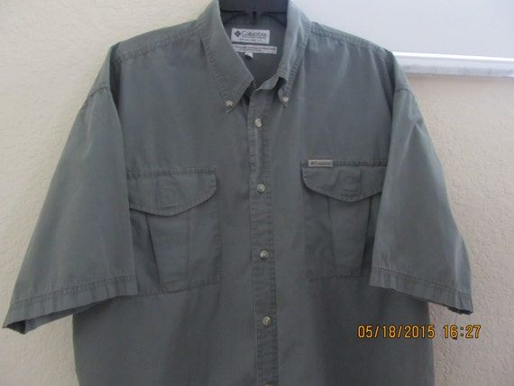 Sale columbia mens sz xl fishing shirt 100 by for Columbia fishing shirts on sale