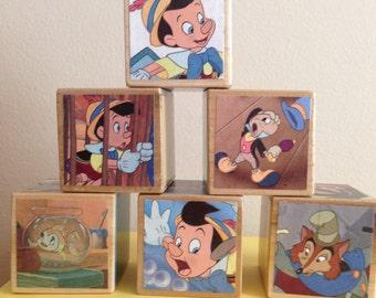 Pinocchio storybook blocks