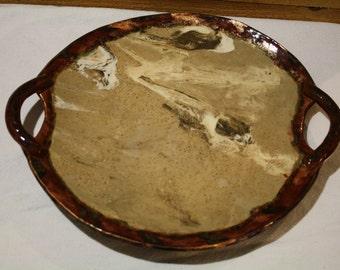 Handmade Pottery Tray, Cheese Tray, Ceramic Candle Holder, Kitchen Tray, Pottery Tray, Handmade Pottery, Serving Tray