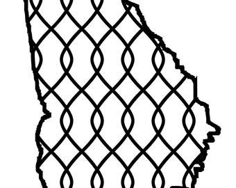 Georgia Chain svg dxf silhouette pattern