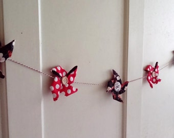 Japanese fabric garland - wall decoration garland handmade by Persephone Boutique.