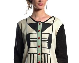 blouse : art deco