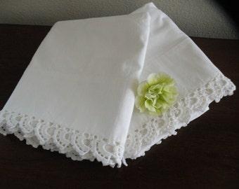 Crisp White Crochet Bridal Cases