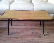 1970s formica coffee table sputnick legs