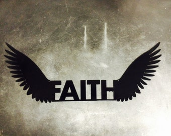 Metal Wings of Faith 16.5 x 6