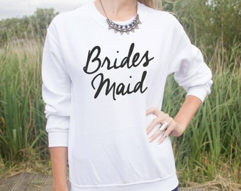 Bridesmaid Jumper Sweater Jumper Fashion Wife Wedding Gift Bride Wifey Bachalorette Hen Do Party