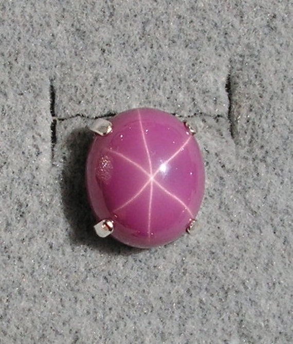 Vintage Unsigned 10x8mm Linde Lindy Pink Star Sapphire Created
