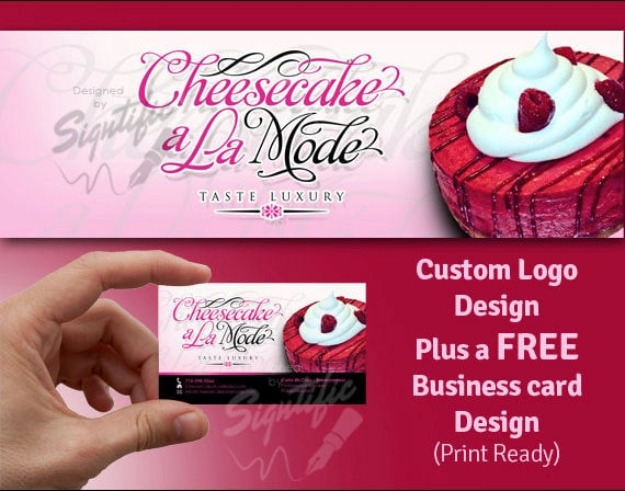 Cake Business Logo Design With A FREE Business Card Design
