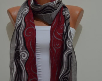Claret Red Scarf- Great gift for her