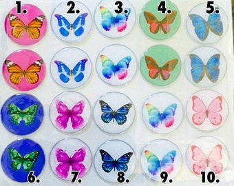 """Epoxy Butterflies 1"""" (sold in pairs)"""