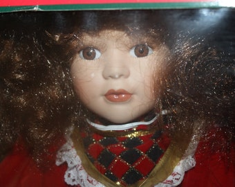 SALE:   Genuine Porcelain Doll, Special Collector's Edition, Ages 8 Up, Still in Box, Hand Painted, Holiday Fashion Collectible