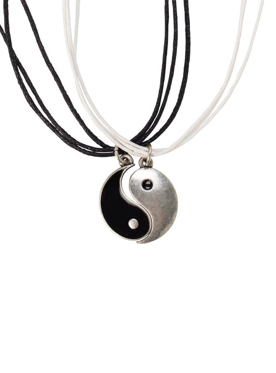 set of two yin yang necklaces bff necklace set best