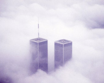 Twin Towers Fine Art Photography Wall Photo Print, World Trade Center I Love New York City NY September 11 Memorial 9/11 USA Pride