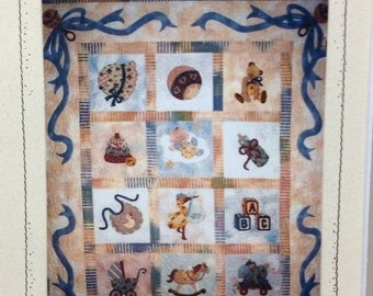 "BABY BLESSINGS by Seams Like Home Pieced and Applique Quilt Pattern 41"" x 50"""