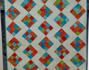 "Pat Sloan STITCHED pieced quilt pattern 43"" x 47"" lap, crib or other sizes"