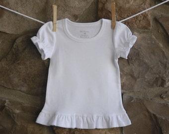 Girls Ruffle Short Sleeve T-shirt - ADD ON