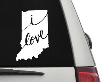Indiana Vinyl Decal Sticker - IN, Indiana Decal for Car, Indiana Sticker for Computer, Indiana Window Sticker, Indiana Phone Decal