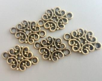 Vintage Metal Charms Antique Bronze Tone Metal Decorative for DIY Jewelry Accessories Bracelet Necklace Metal Beads 12*19mm 632