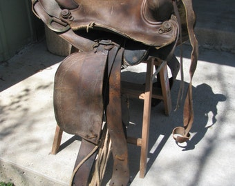Vintage Horse Saddle (For Display Only)