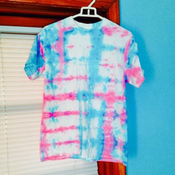 Cotton candy tie dye shirt blue pink tie dye by for Custom tie dye t shirts