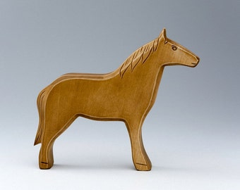 Wooden horse - Toy Horse - Eco Toys - Traditional Toys - Educational Toys - Carved Animals - Wooden Figures - Gift For Baby - Learning Games