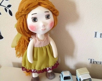 Sienna Paperclay Art Doll