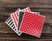 Coasters-patriotic (red, white and blue)