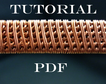 wire wrapped tutorial, tutorial wire weaving, pdf tutorial, jewelry tutorial, wire tutorial, tutorial in handmade, jewelry lessons, pdf