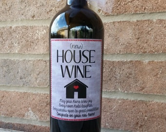 House Warming Gift, New Home Gift, House Warming Wine Label