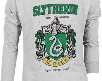 Slytherin Harry Potter Hogwarts Quidditch Team Festival Retro VTG Jumper Sweater Sweatshirt Long Sleeve Pullover Hoodie Hood S M L